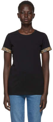 Burberry Black Check Cuffs T-Shirt