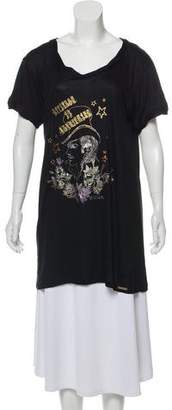 Galliano Scoop Neck Printed T-Shirt