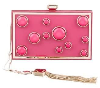Elie Saab Studded Box Clutch Pink Studded Box Clutch
