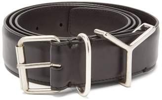 Y/Project Y-loop leather belt