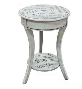 Carolina Chair and Table Parisian Script Accent Table