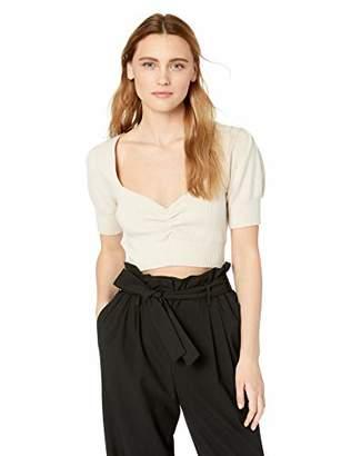 For Love & Lemons Women's Oxford Short Sleeve Top