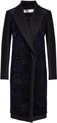 Victoria Beckham Victoria Coat with Velvet, Wool and Cashmere