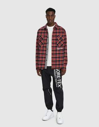 Off-White Off White Check Button Up Shirt in Red White