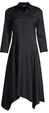Lafayette 148 New York Women's Rizzo Asymmetric Sharkbite Dress - Size 0