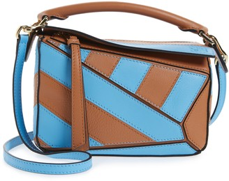 Loewe Mini Puzzle Rugby Stripe Leather Bag