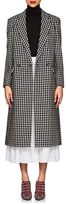 Derek Lam Women's Houndstooth Tweedy Wool-Blend Long Coat - Taupe Multi
