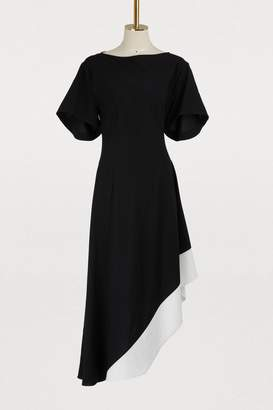 Loewe Asymmetrical short sleeved dress
