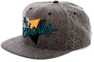 MITCHELL & NESS Shark Crease Triangle Snapback $30 thestylecure.com