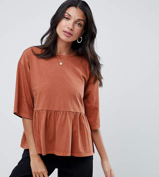Asos Tall DESIGN Tall smock top in wash