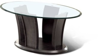 Panna Furniture of America Contemporary Glass Coffee Table, Multiple Colors