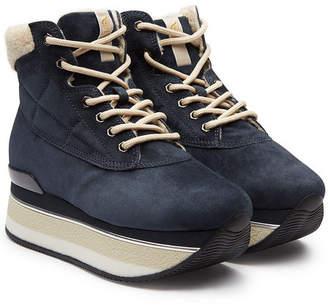 Hogan Platform Ankle Boots in Suede