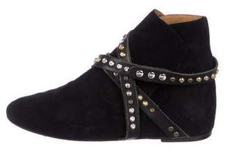 Etoile Isabel Marant Studded Suede Ankle Boots
