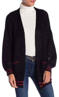 DREAMERS BY DEBUT Contrast Trim Knit Cardigan