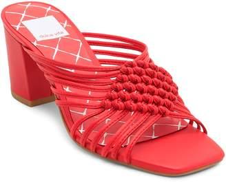 Dolce Vita Women's Delana Woven Leather High-Heel Slide Sandals