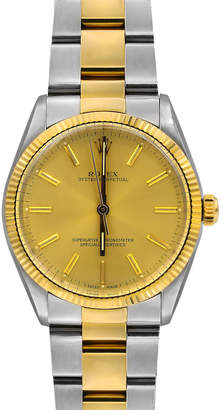 Rolex Pre-Owned 34mm Men's Oyster Perpetual Two-Tone Bracelet Watch