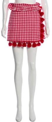MISA Los Angeles Gingham Wrap Mini Shorts