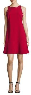 Ellen Tracy Petite Zip Sleeveless Shift Dress
