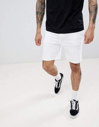 Pull&Bear Jersey Shorts In White