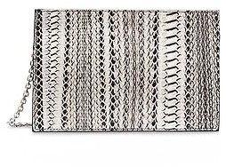 Calvin KleinCalvin Klein Womens Water Snake Zip Clutch Black/White