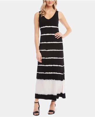 Karen Kane Tie-Dyed Striped Dress