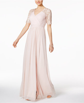 Adrianna Papell Sequined Lace-Trim Gown $179 thestylecure.com