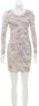 Torn By Ronny Kobo Watercolor Mini Dress