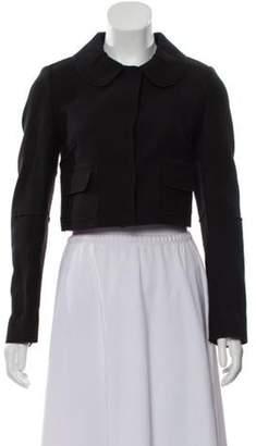 Dolce & Gabbana Cropped Button-Up Jacket Black Cropped Button-Up Jacket