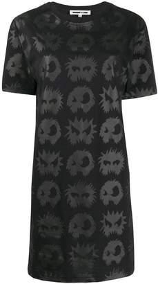 McQ angry eyes T-shirt dress