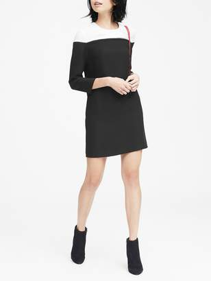 Banana Republic Petite Color-Blocked Shift Dress