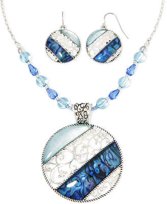 MIXIT Mixit Blue Stone Necklace and Earrings Set