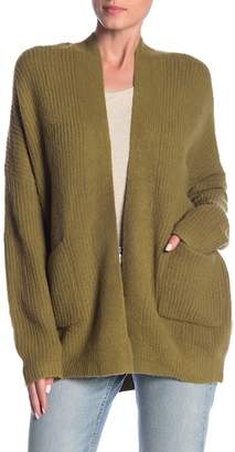 Woven Heart Olive Knit Cardigan