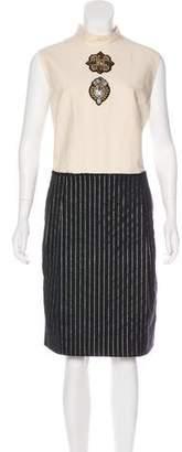Dries Van Noten Wool-Blend Midi Dress