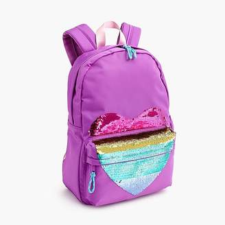 J.Crew Girls' backpack with reversible-sequin heart
