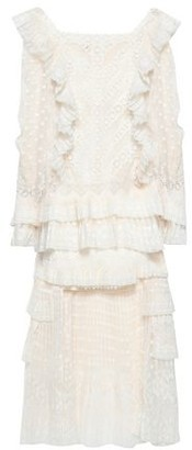 Zimmermann Tiered Ruffled Broderie Anglaise And Fil Coupe Dress