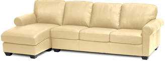 JCPenney FURNITURE PRIVATE BRAND Leather Possibilities Roll-Arm 2pc Right-Arm Sofa/Chaise Sectional