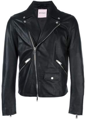 Palm Angels Leaf biker jacket