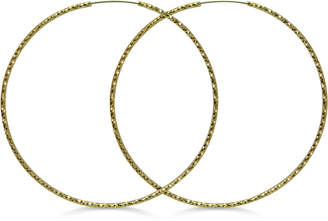 GUESS Textured Extra-Large Hoop Earrings