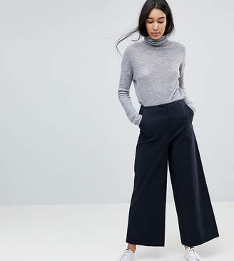 Asos Tall DESIGN Tall wide leg canvas pants in navy