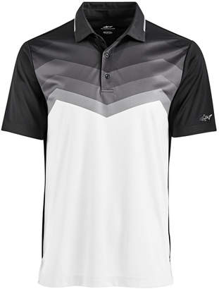 Greg Norman Attack Life by Men's Malden Ombre Stripe Performance Polo