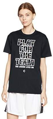 Converse (コンバース) - (コンバース) CONVERSE バスケットボール ウェア プリントTシャツ CB372301 [レディース] CB372301 1900 ブラック S