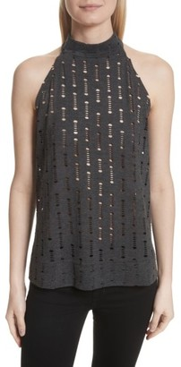 Women's Twenty Perforated Halter Top $85 thestylecure.com