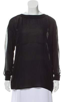 Rachel Zoe Sheer Long Sleeve Tunic