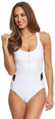Next Women's Mix it Up Aqua Power One Piece Swimsuit 8149286 $94 thestylecure.com