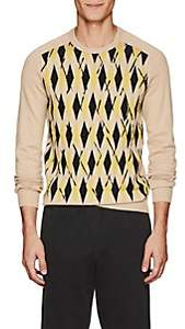 Tomas Maier MEN'S ABSTRACT-ARGYLE CASHMERE SWEATER SIZE L