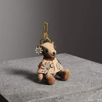 Burberry Thomas Bear Charm in Cape with Crystals