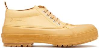 Jacquemus Meuniers Leather And Rubber Lace Up Shoes - Mens - Beige