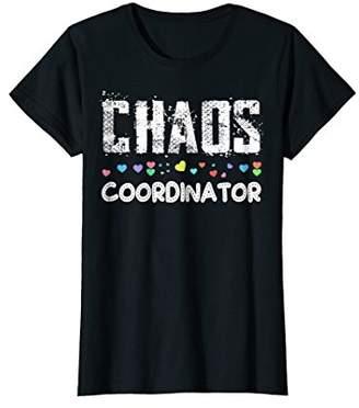 IDEA Womens Chaos Coordinator T-Shirt Funny Mother's Day Gift Shirt