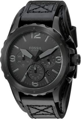 Fossil Men's JR1510 Nate Chronograph Leather Watch