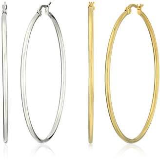 Stainless Steel Hoop Earring Two-Pair Set